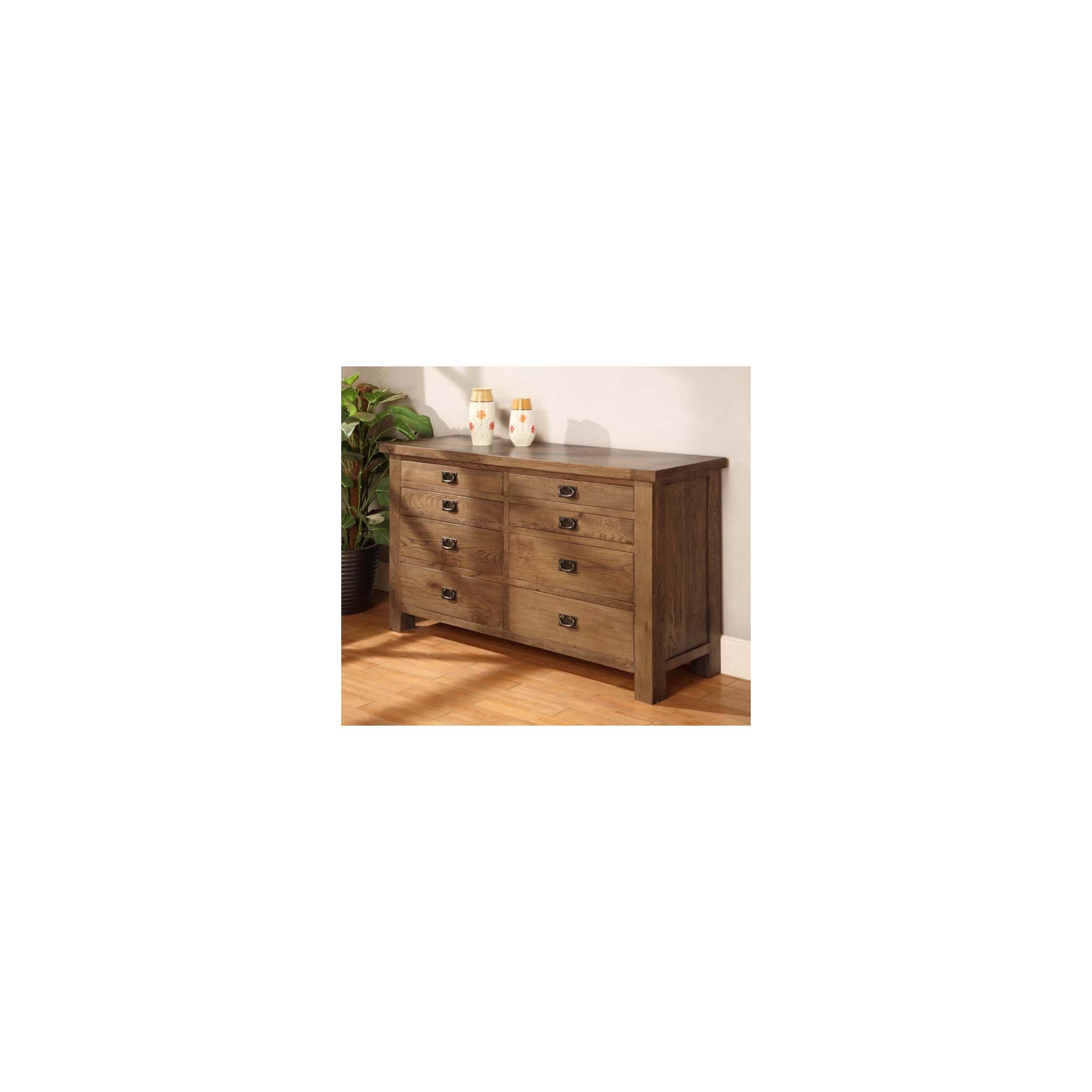 Hawkshead Brooklyn Long Drawer Chest in Rich Patina at Tescos Direct