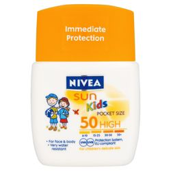 Nivea Sun Childrens Pocket Size SPF50 50 ML