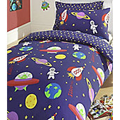 Blast Off Single Bedding in 100% Brushed Cotton