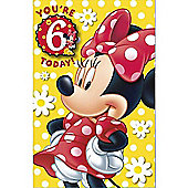Disney Minnie Mouse Birthday Card - 6 Years