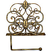 Lily - Metal Wall Mounted Toilet Roll Holder - Bronze