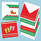Christmas Message Cards (6 Pcs) Craft Children