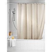 Wenko Anti Mould Single Colour Shower Curtain - Beige
