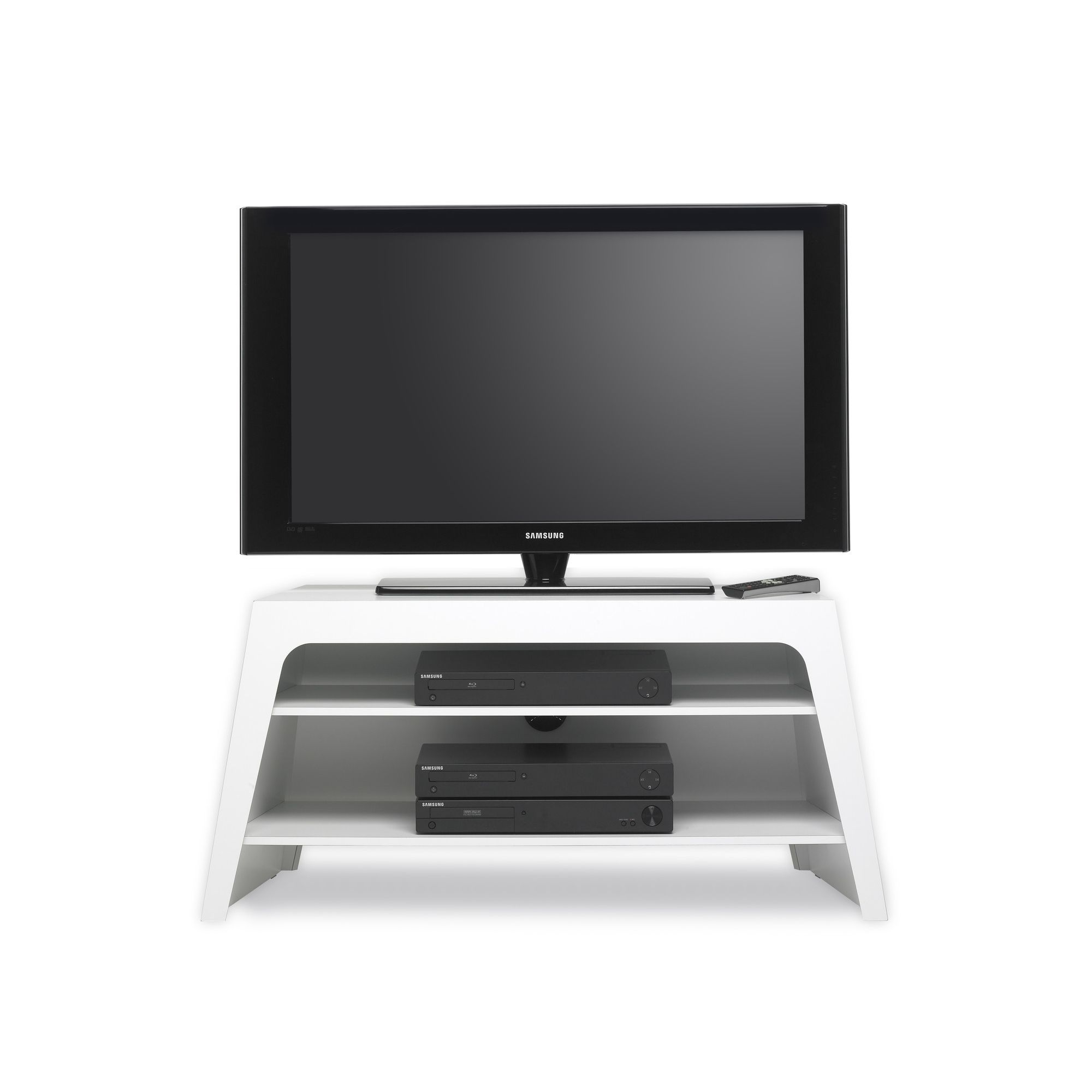 Mor Colorado TV Stand - High Gloss White at Tesco Direct