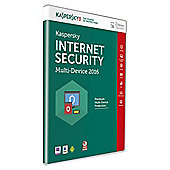 Kaspersky internet Security 2016, 2 Users, 1 Year
