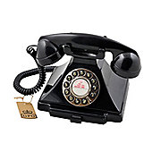 GPO 1929S Carrington Push Button Telephone - Black