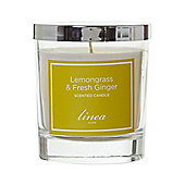 Linea Lemongrass & Ginger Jar Candle In Green