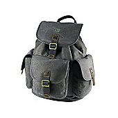 TRP0269 Troop London Heritage Small Canvas Backpack Black