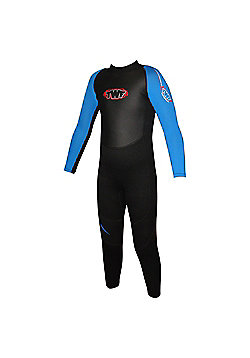 TWF Full wetsuit 2.5mm Black/Blue Age 7/8