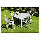 Whitstable 7-piece Wooden Garden Furniture Set