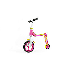 Scoot & Ride Highwaybaby 2-in-1 Scooter & Balance Bike, Pink/Yellow