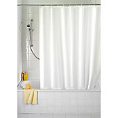 Wenko Anti Mould Single Colour Shower Curtain - White