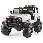 BIG SUV Trailcat Style 12v Electric Jeep - White
