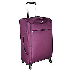 Tesco Lightweight 4-Wheel Large Berry Suitcase