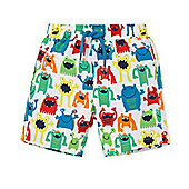 Monster Print Swim Shorts - Multi