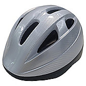 Tesco Kids' Bike Helmet, Silver, 48-52cm