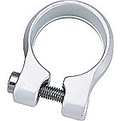 Acor Bolt Seat Post Clamp: 34.9mm Silver.