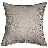 Homescapes Latte Prefilled Velvet Jacquard Scatter Cushion