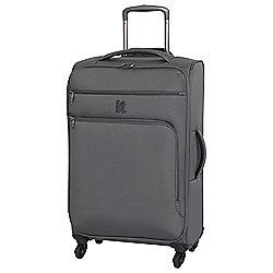 IT Luggage Megalite 4-Wheel Medium Pewter Suitcase