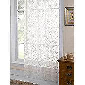 Butterfly Lace Panel Net - Cream
