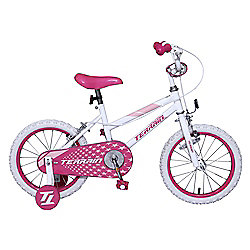 "Terrain 16"" Kids' Bike with Stabilisers, Pink"