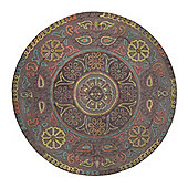 Esprit Mandala Rug - Round 100 cm x 100 cm (3 ft 3 in x 3 ft 3 in)