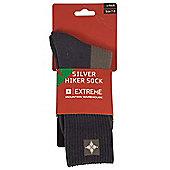 Silver Hiker Antibacterial High Wicking Padded Sock Walking Hiking Socks 1 Pair - Blue