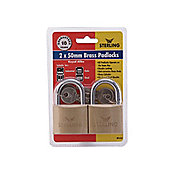 Sterling Bpl452 Padlock D/Lk Brass 50Mm X2