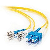 Cables to Go 2m ST/SC Duplex 9/125 Single-Mode Fibre Patch Cable