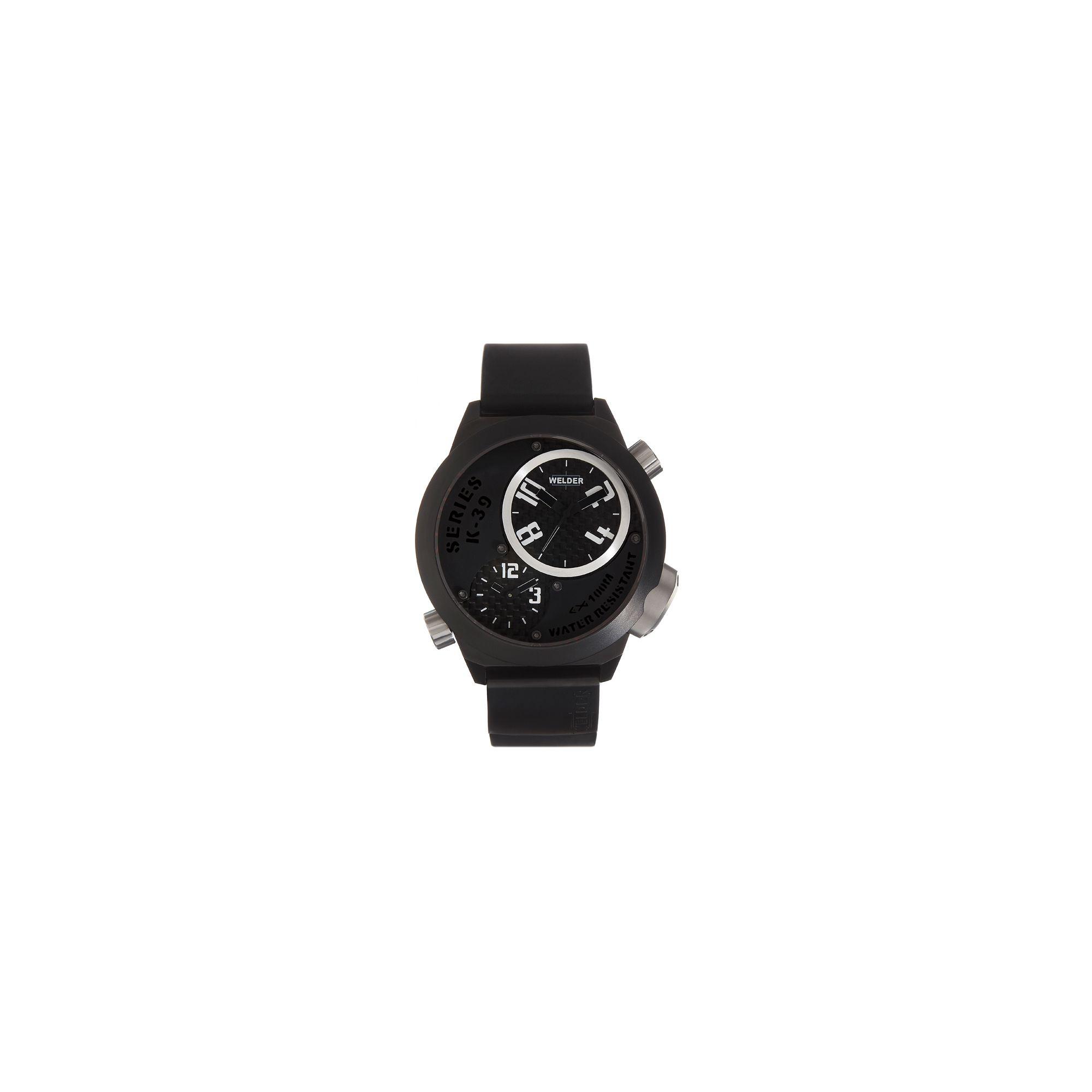 Welder Gents Black Dial Black Rubber Strap K32-9202 at Tesco Direct