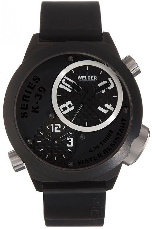 Welder Gents Black Dial Black Rubber Strap K32-9202