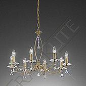 Franklite Monaco 8 Light Candle Chandelier with Flush Conversion - Bronze