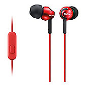 Sony MDR-EX110AP In-Ear Headphones - Red