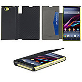 Sony Xperia Z1 Compact Book Case Carbon Black