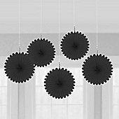 Black Hanging Fan Decorations - 15.2cm