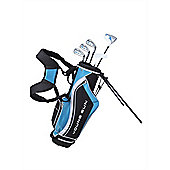 Young Gun Sgs V.2 Junior Kids Right Hand Golf Package Set + Bag Age 6-8 - Blue