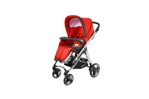 Bebecar Ip-Op Chrome Pushchair, Rosso