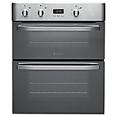 Hotpoint UHS53XS, Stainless Steel, Twin Cavity, Built-under Double Oven, 60cm