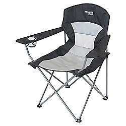 Yellowstone Ashford Executive Folding Camping Chair, Black & Grey