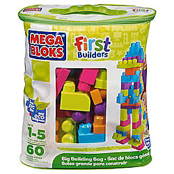 Mega Bloks 60-Piece Big Building Bag, Trendy