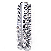 Body Power 1-10Kg Ergo Chrome Dumbbells & Rack
