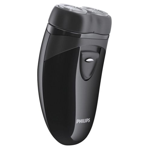 Philips Travel Shaver PQ203/17 with twin rotary heads and travel pouch