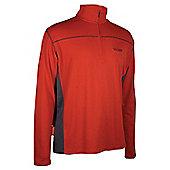 Hiker Outdoor Walking Hiking Mens Long Sleeve Top - Red