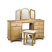 Julian Bowen Pickwick Double Pedestal Dressing Table Set (3 Pieces)