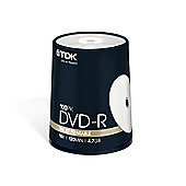 TDK 4.7 GB 16x 100 Pack Printable DVD Cake Box