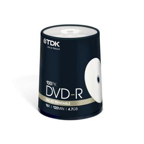 TDK 4.7 GB 16x 100 Pack Printable DVD Cake Box