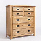 Ametis Westbury Reclaimed Oak Four Over Three Drawer Chest