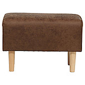 Tub Footstool L/Effect Ant/Chocolate
