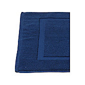 Luxury Hotel Collection Zero Twist Bath Mat In Navy