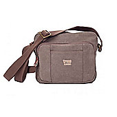 TRP0235 Troop London Classic Canvas Across Body Bag Brown